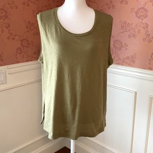 Madewell Whisper Cotton Crewneck Muscle Tank NWT